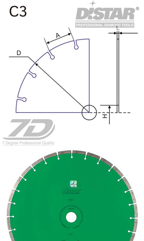 Круг алмазный Distar 1A1RSS/C3-B UNI H