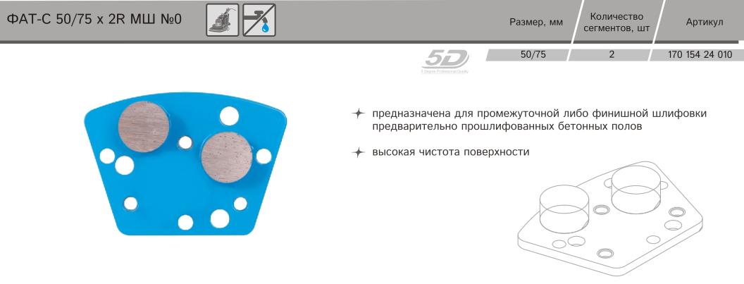 Алмазная фреза Distar ФАТС-Н 79/МШМ-2 №0