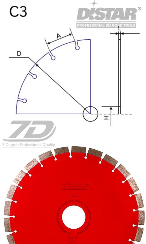 Круг алмазный Distar Sandstone H 1A1RSS/C3-B