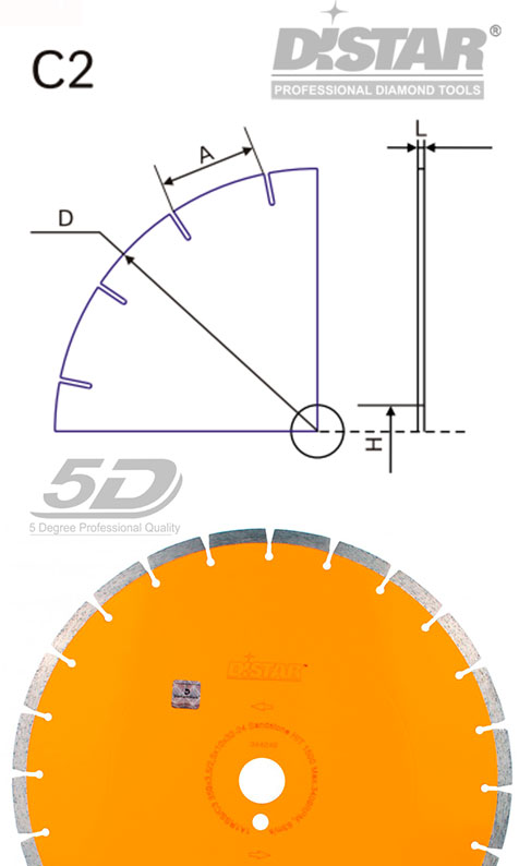 Алмазный отрезной круг Distar Sandstone 150