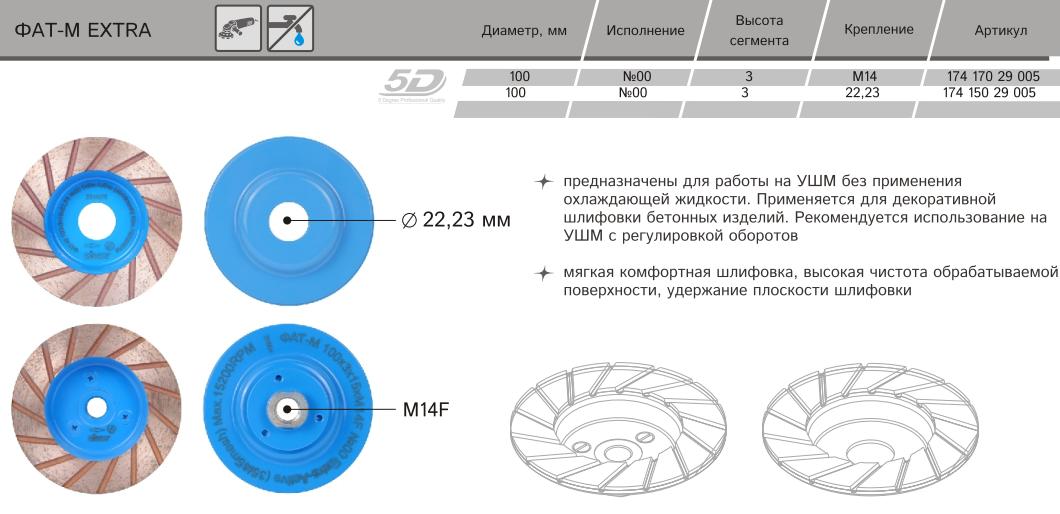 Алмазная сегментная торцевая фреза Distar ФАТС-W Extra Active