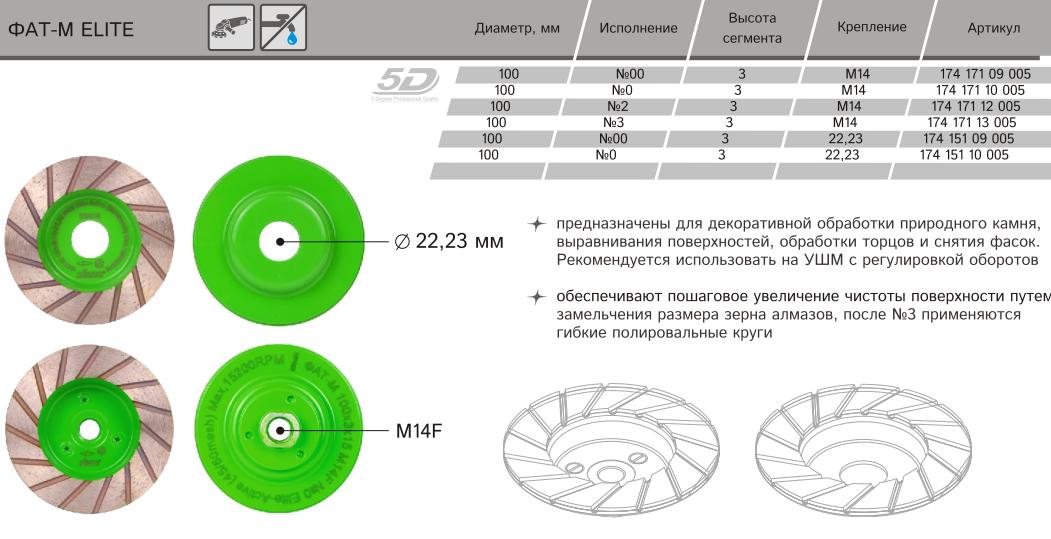 Алмазная сегментная фреза Distar ФАТМ-Н Elite Active